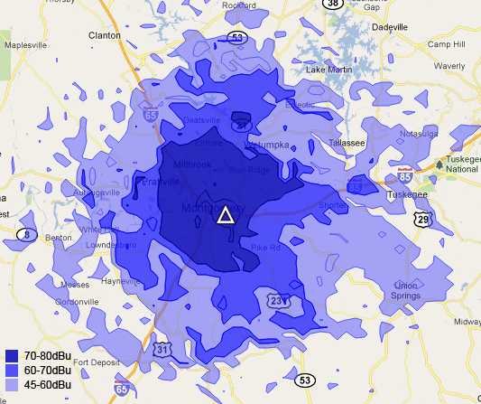 104.9 Coverage Map