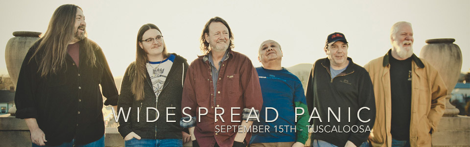 Widespread Panic at the Tuscaloosa Amphitheater September 15