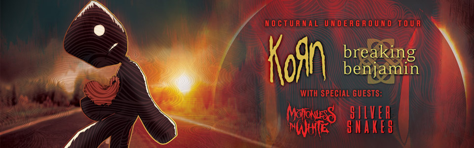 Korn and Breaking Benjamin at the Oak Mountain Amphitheatre