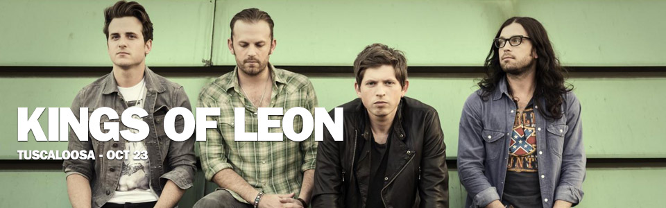 Kings of Leon in Tuscaloosa on October 23