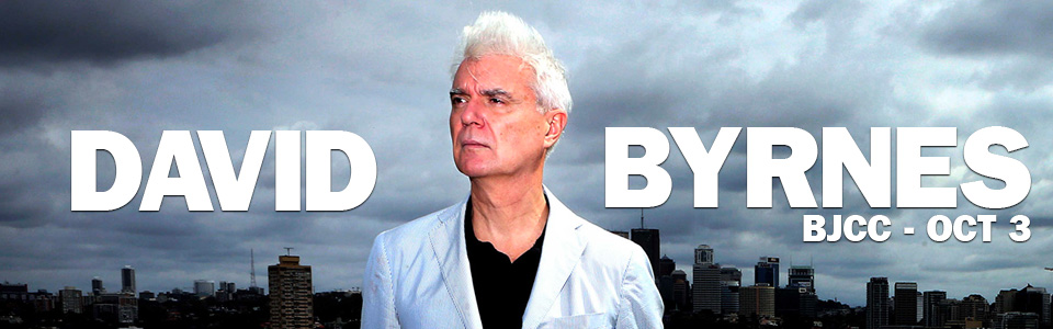 David Byrne at the BJCC on October 3