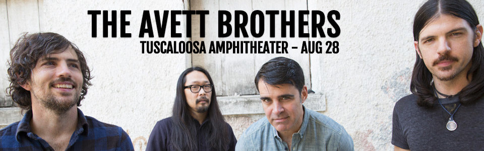 The Avett Brothers at the Tuscaloosa Amphitheater on August 28