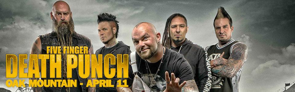 Five Finger Death Punch at Oak Mountain Amphitheatre on April 11