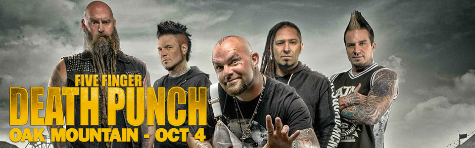 Five Finger Death Punch at Oak Mountain Amphitheater on October 4